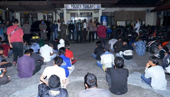 Bupati Pimpin Operasi Penertiban Pembatasan Jam Malam, 116 Orang Terjaring