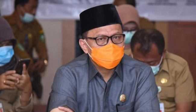 Ketua DPRD Bengkalis H Khairul Umam Lakukan Video Conference Terkait Dukungan PSBB