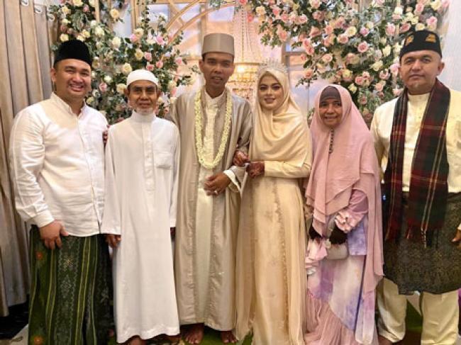 UAS Resmi Menikah dengan Fatimah Azzahra Gadis Asal Jombang
