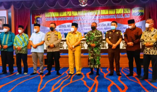 Jelang PSU, Polres Rohul Bersama Kodim 0313/KPR Deklarasi Jaga Kamtibmas