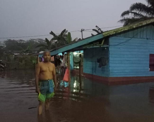 Sungai Siak Meluap, Warga LKMD Palas Mengungsi