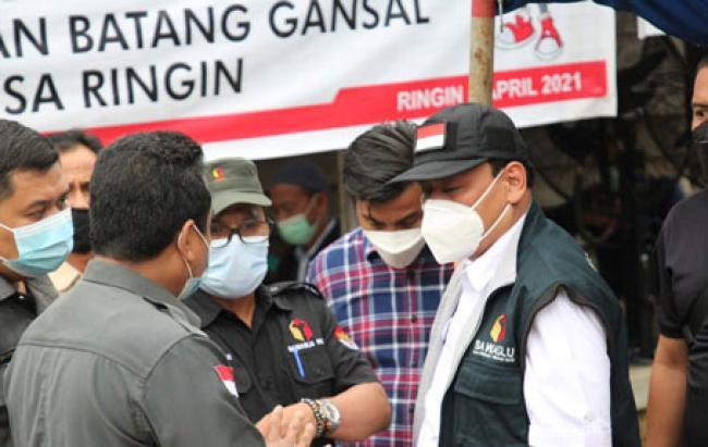Ketua Bawaslu RI Abhan, SH, MH Monitoring PSU di Indragiri Hulu.