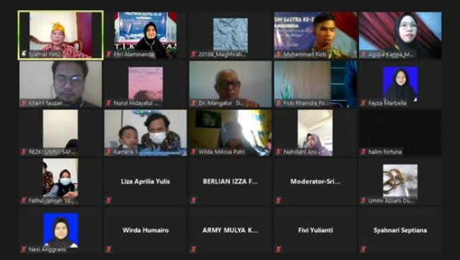 Prodi Pendidikan Bahasa dan Sastra Indonesia UNRI Kembali Gelar Praktikum Sastra ke-29