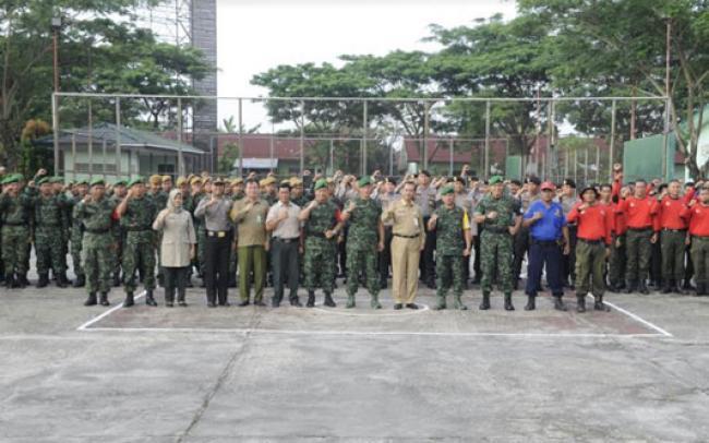 Latihan Posko I Kodim 0320/Dumai Mantapkan Kemampuan Personel Dalam Penanggulangan Bencana