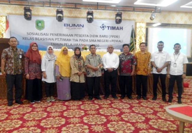 PT Timah Tbk Sosialisasi PPDB Kelas Beasiswa Kepulauan Meranti