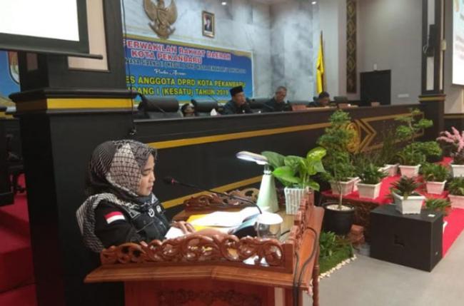 Dipimpin Nofrizal, Paripurna Laporan Reses DPRD Pekanbaru Sepi, Beberapa Dewan Pilih Pulang