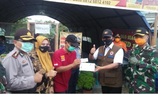 Bersama Dandim, Bupati Tinjau Posko Siaga Covid-19 di Perbatasan Riau-Sumut