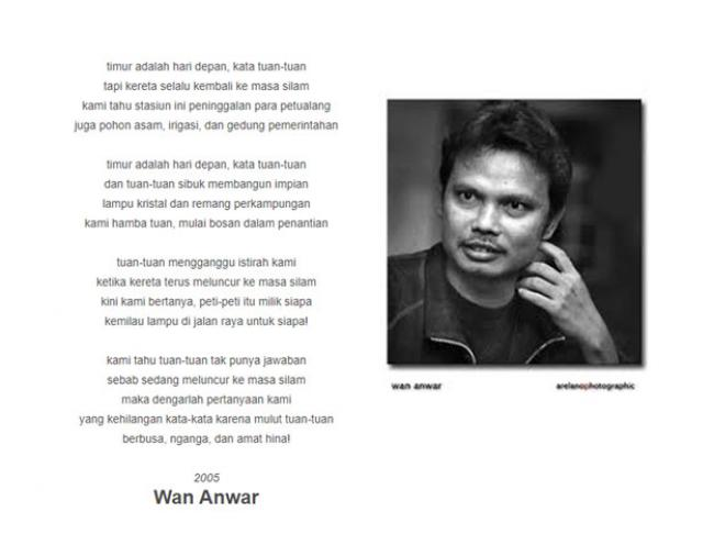 "Ungkapan Masyarakat Bangsa Dalam Puisi ""Pertanyaan di Stasiun Kereta"""