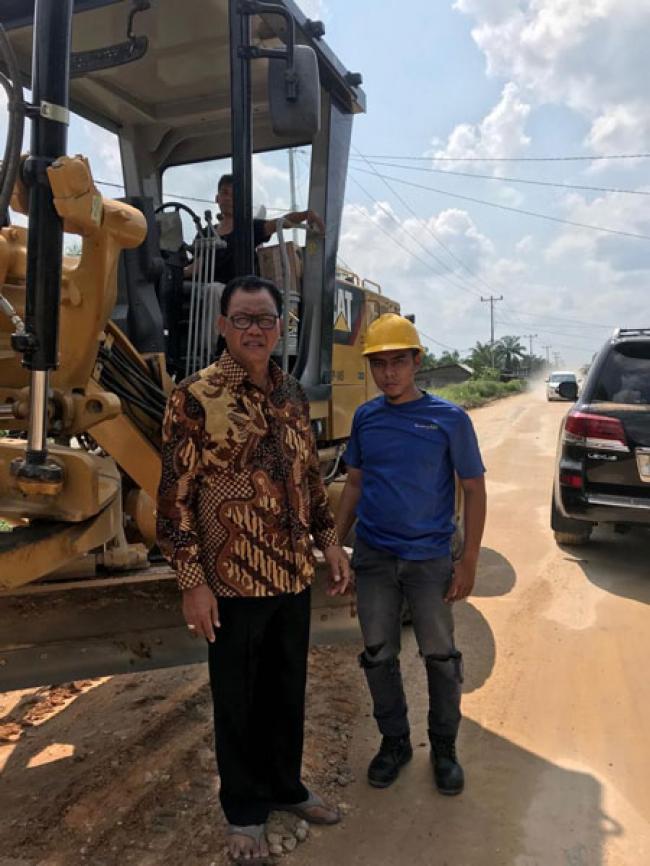 Pembangunan Insfraruktur Jalan di Rohil Merata