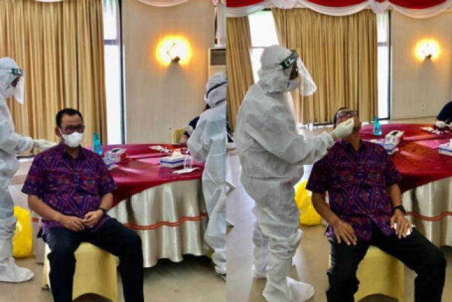Bupati Suyatno Jalani Test Swab Untuk Hadiri Kunker Presiden