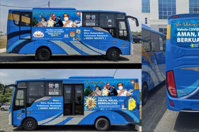 Pemko Pekanbaru Gunakan 5 Bus Untuk Vaknisasi Keliling COVID-19