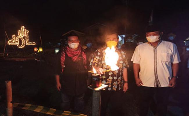 Gubri Apresiasi Festival Lampu Colok di Kecamatan Rumbai Timur