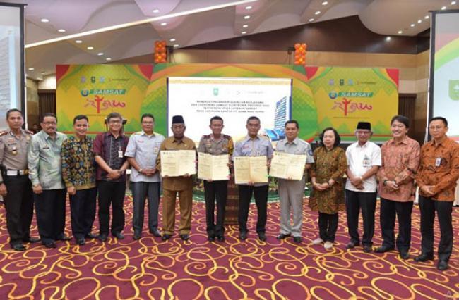 KPK Puji Peluncuran e-Samsat Riau, Dapat Dibayar Melalui ATM Bank Riau Kepri
