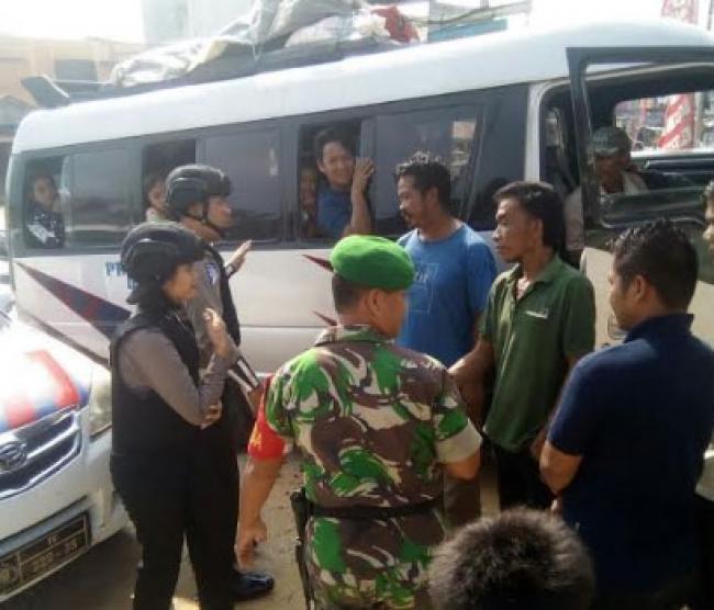 Sinergitas TNI Polri Dalam Pengamanan Mudik Lebaran Di Bagan Sinembah