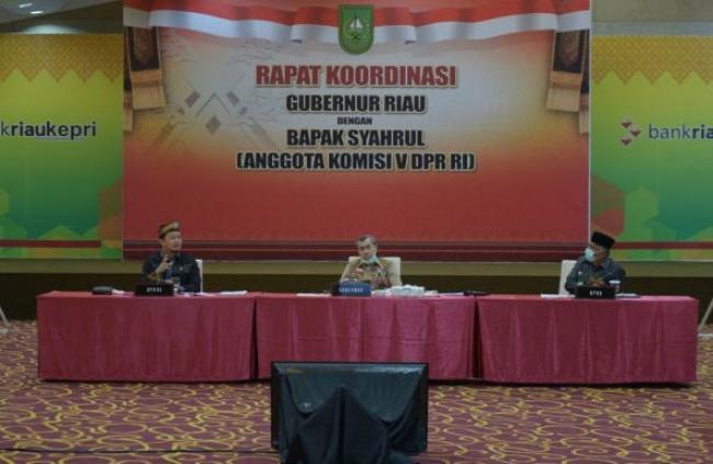 Gubri Kumpulkan Pejabat Teknis Kabupaten Kota Rakor dengan Anggota Komisi V DPR RI Syahrul Aidi