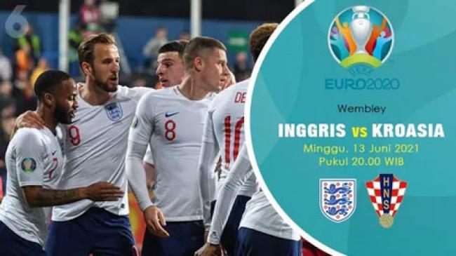 Inggris vs Kroasia di Piala Eropa 2020 / 2021: The Three Lions Diunggulkan