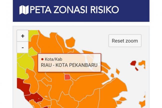 44 Kelurahan di Pekanbaru Berstatus Zona Merah COVID-19, Ini Daftarnya