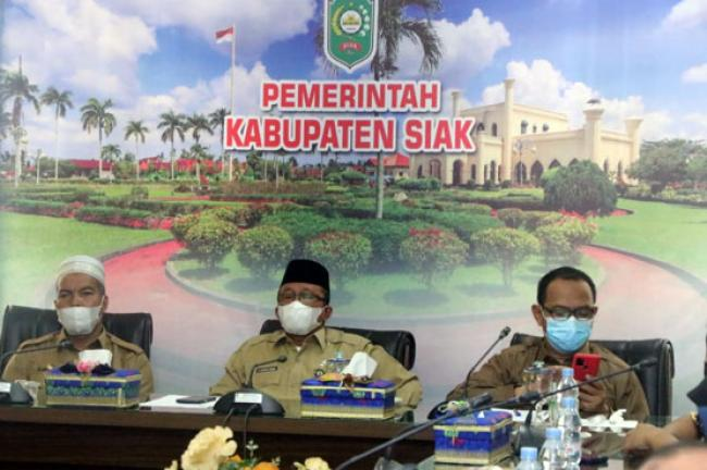 Sekda Arfan Usman Terima Kedatangan 9 Mahasiswa KKNT IPB ke Siak
