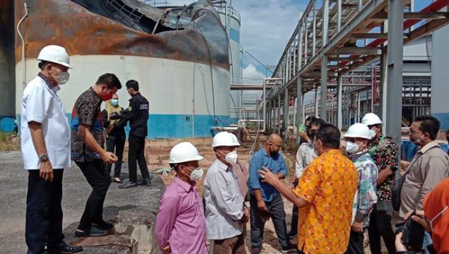 5 Orang Meninggal Akibat Tanki Sawit PT SDO Terbakar, Komisi V DPRD Riau Lakukan Sidak