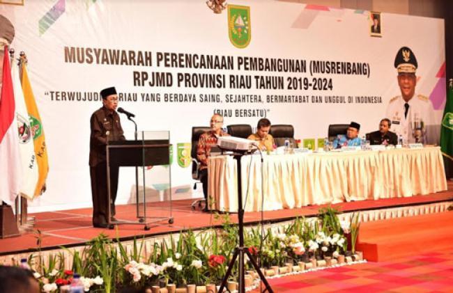 Gubri Buka Musrenbang RPJMD Riau Tahun 2019-2024