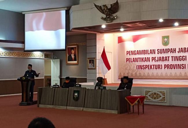 Sigit Juli Hendriawan Resmi Dilantik Sebagai Kepala Inspektorat Riau