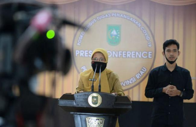 Update Covid-19 Riau: Nihil Positif Satu Pasien Sembuh