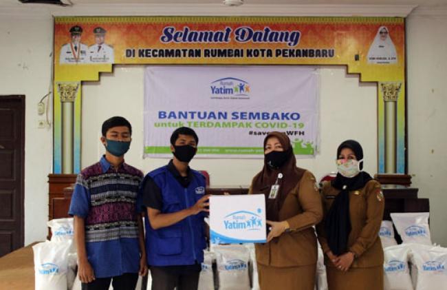 Dua Kecamatan Di Pekanbaru Mengapresiasi Bantuan Dari Rumah Yatim