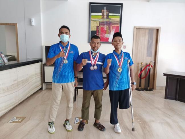 Ikuti Selekda NPC Riau, 3 Atlet NPC Meranti Sabet 4 Medali