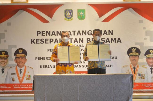 Riau dan Kepri Teken Kerja Sama Sektor Pariwisata, Kesehatan, Perikanan, dan Pendidikan