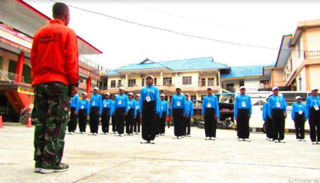 TNI-Polri Latih Calon Paskibraka Tingkat Kabupaten Rokan Hulu