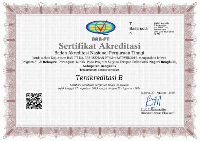 Prodi Rekayasa Perangkat Lunak Polbeng Raih Akreditasi B