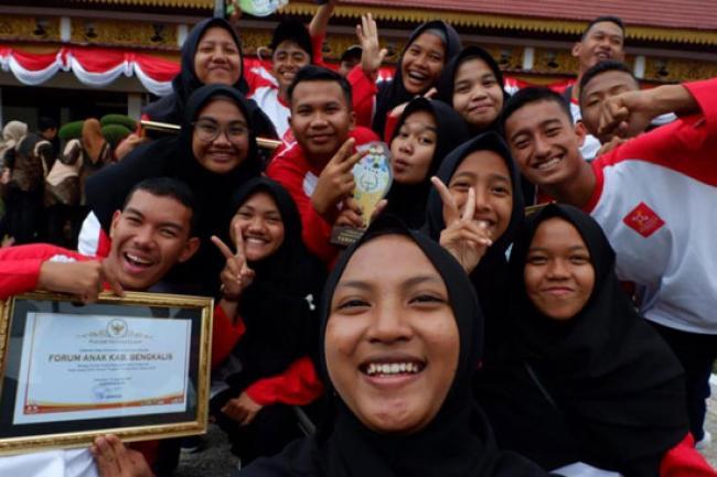 Forum Anak Kecamatan Pinggir Terfavorit di Riau
