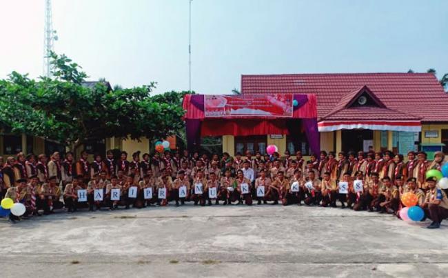 Peringatan Hari Pramuka Ke 58 Di SMA Negeri 1 Kepenuhan