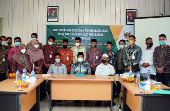 Jadi Narasumber Pelatihan Amil Zakat, Bupati Alfedri Harap Baznas Kabupaten Siak Jadi Tauladan