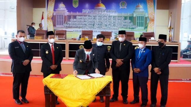 Paripurna, DPRD Rohil Setujui RPJMD 2021-2026