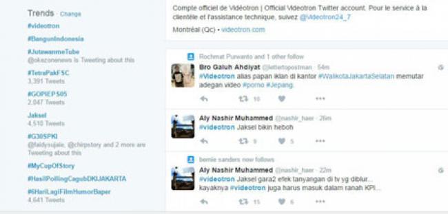 Astaga, Papan Reklame Tayangkan Bokep Jadi Trending Topic