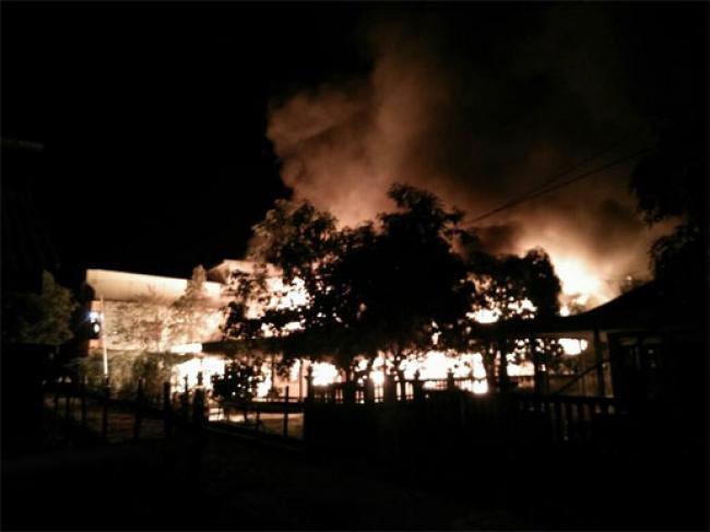 3 Rumah di Meranti Ludes Terbakar, Dua Balita Tewas dan Seorang IRT Tewas
