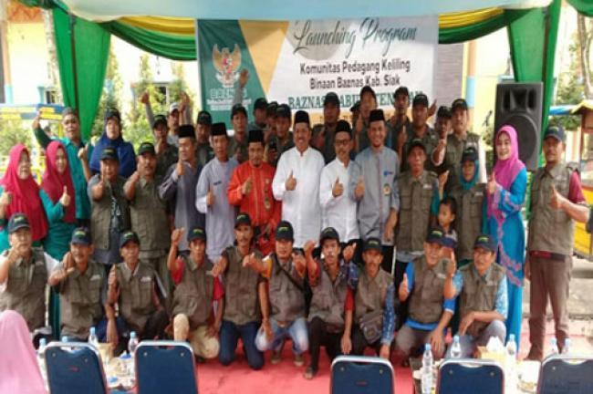 Wakil Bupati Launching Program KPK Binaan Baznas Kabupaten Siak