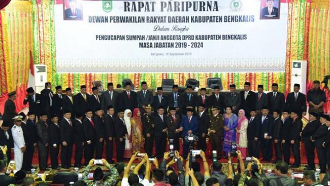 Angkat Sumpah-Janji, Ini Nama-Nama Anggota DPRD Bengkalis periode 2019-2024