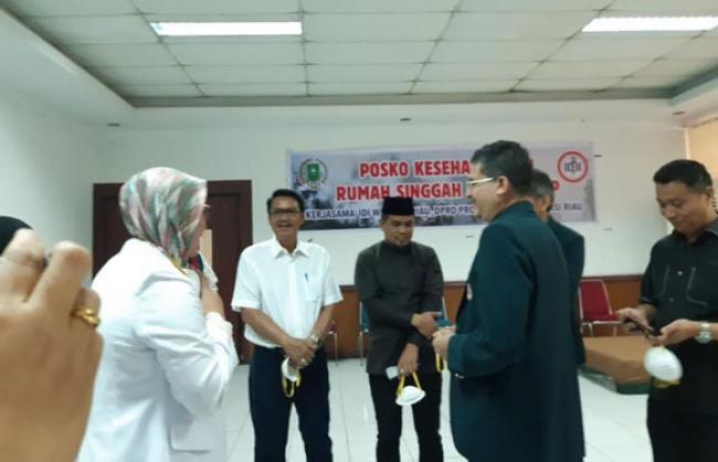 Posko Kesehatan dan Rumah Singgah Kedap Suara DPRD Riau Diresmikan