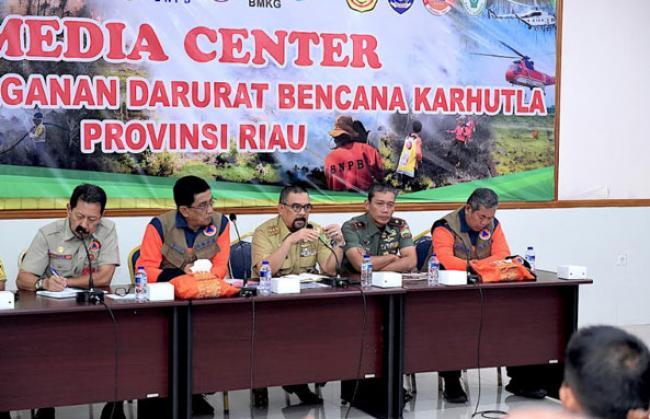 Wagubri Hadiri Rapat Evaluasi Penanggulangan Karhutla Bersama TIM BNPB Pusat