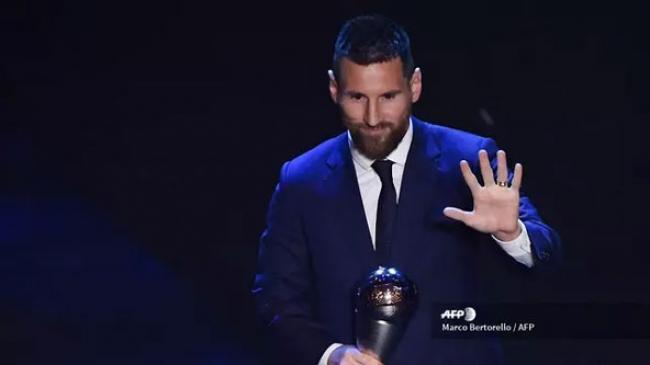 Lionel Messi Jadi Pemain Terbaik Dunia FIFA 2019