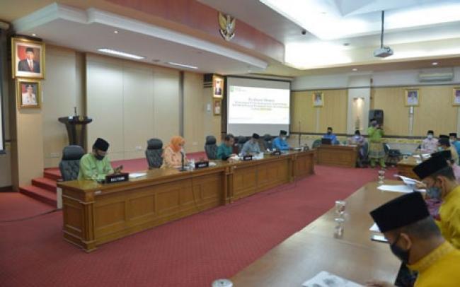 Pemprov Riau Rapat Pleno Pemberian Rekomendasi Kawasan Perkotaan Siak Sri Indrapura 2020-2040