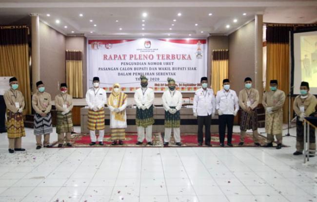 Tiga Paslon Bupati dan Wakil Bupati Siak Teken Pakta Integritas Protokol Kesehatan