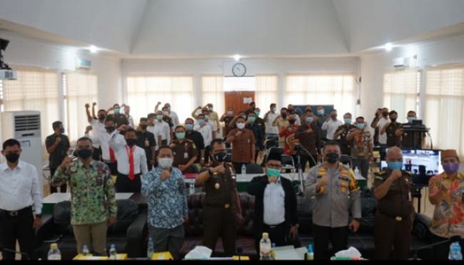 Buka Rakor Sentra Gakkumdu Se Riau, Kapolda: Kita Akan Dukung Keputusan Bawaslu