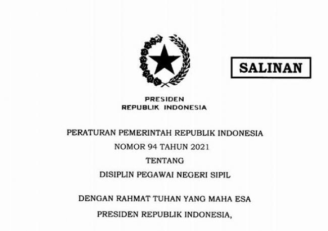 Jokowi Teken PP 94/2021, Ini Kewajiban dan Larangan Bagi PNS