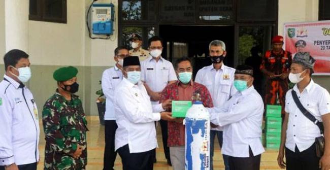 Pemkab Siak Terima Bantuan 20 Tabung Oksigen dan 10 Regulator Dari Kadin Riau