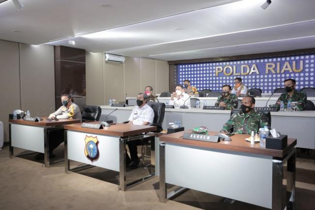 Gubri Bersama Forkompinda Riau Hadiri Launching ASAP Digital Nasional Secara Virtual