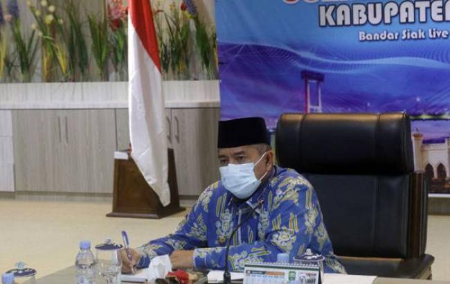 Bupati dan Wakil Bupati Siak Ikuti Pembekalan Kepemimpinan Pemerintahan Dalam Negeri