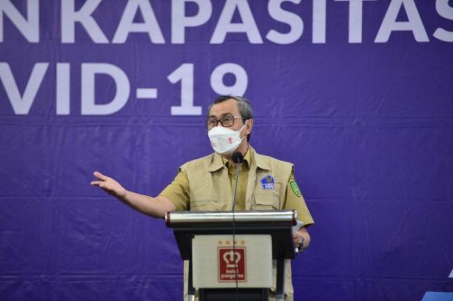Gubernur Riau Buka Program Penggalangan dan Peningkatan Kapasitas Relawan Covid 19 Wilayah Pekanbaru